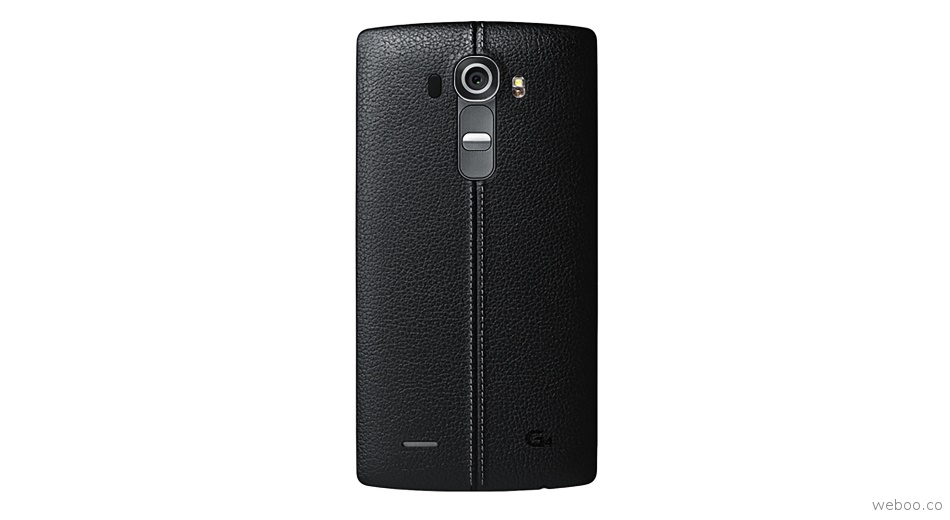 LG G4 real leather back shell cover black
