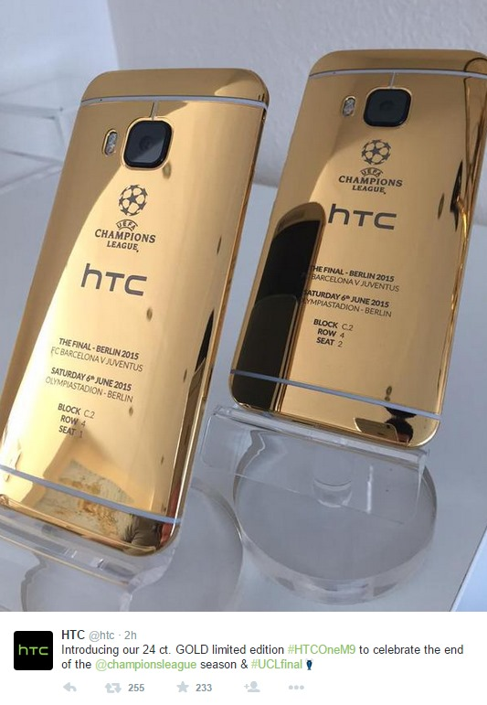 HTC One M9 24-Karat Gold Introduced Photos Shot by iPhone