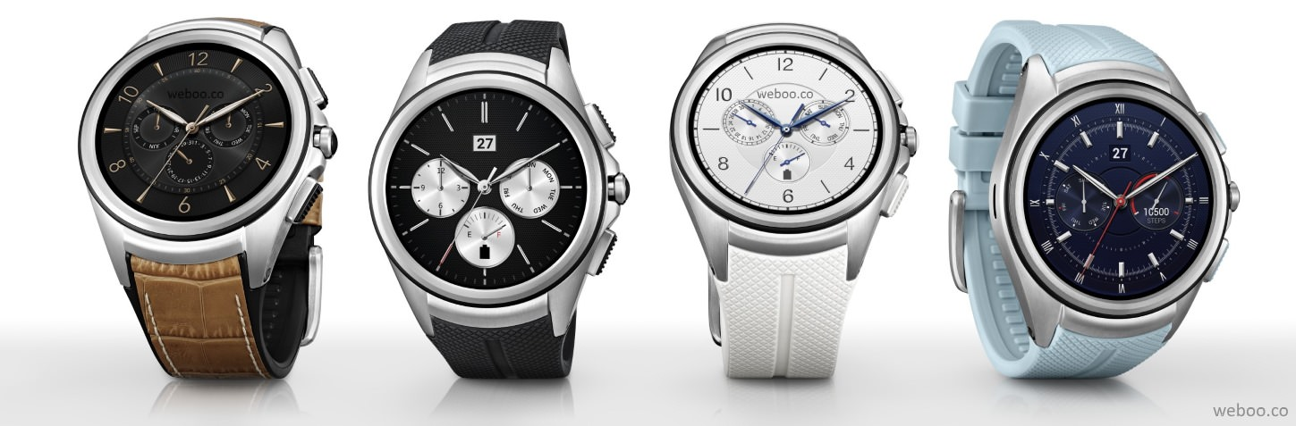 LG Watch Urbane 2nd Edition Space Black Opal Blue Luxe White Signature Brown